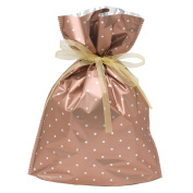 Gift Mate 21061-9 9-Piece Drawstring Gift Bags, Small, Copper Polka Dot