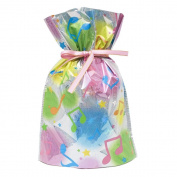 Gift Mate 21006-6 6-Piece Drawstring Gift Bags, Medium, Musical Notes