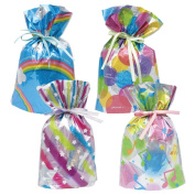 Gift Mate 21012-4 4-Piece Drawstring Gift Bags, Large, Celebration Assortment
