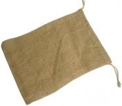 Burlap Drawstring Bag 25cm x 36cm Natural 12 Pcs.
