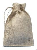 10cm X 15cm Burlap Bags with Drawstring - Lot of 100