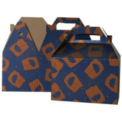 4 x 8 x 5 1/4 Medium Blue with Orange Flower Design Gable Box - Sold individually