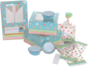 The Gift Wrap Company Garden Party Cupcake Set, Baking Cups and Boxes