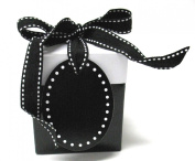 Boston International Progress Luv2pak Eco Giftalicious Pop-Up Gift Box with Ribbon and Tag, Black Tie, 7.6cm X 8.9cm , 10 Count