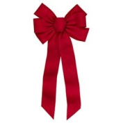 HOLIDAY TRIM 6672 7 Loop Ornament Print Bow for Decoration