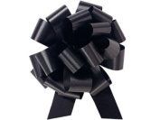 BLACK Pull String Bows - 14cm Wide 20 Loops (1 & 2.2cm ribbon) Set of 10