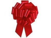 10 Pk Red Pull Bows - Gift Packaging Bows - Gift Bows for Gift Baskets & Packages