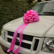 Large Car Bow, 41cm Wide - Hot Pink Fuchsia