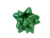 Emerald 6.4cm Poly Star Gift Bows -100 Per Package.