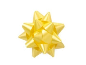 Maize 6.4cm Poly Star Gift Bows -100 Per Package.
