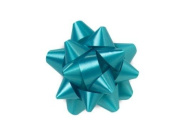 Turquoise 6.4cm Poly Star Gift Bows -100 Per Package.