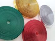 4 x 20m christmas curling ribbon (Metallic Gold, Silver,Red & Green, this com...