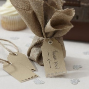 Ginger Ray Brown Kraft Scalloped Edge Luggage / (manilla) Gift Tags X 10 with Twine for Weddin...