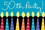 Great Birthday 50th Invitations 8ct