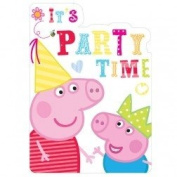 Peppa Pig Red Party Invites