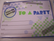 Spritz Party Invitations with Envelopes ~ Set of 10