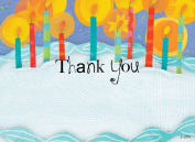 Kids Candles & Cake Thank You Cards, Fill-In Style, 8 Pack