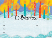 Kids Candles & Cake Invitation, Fill-In Style, 8 Pack