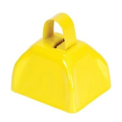 7.6cm Yellow Metal Cow Bell