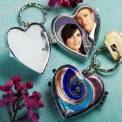 Murano Glass Collection Lovely Locket Keychain Favours