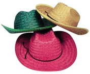 Adult's Assorted Straw Cowboy Hats