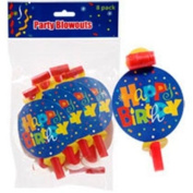 """Whimsy """"Happy Birthday"""" Blowouts, 8-ct. Packs"""