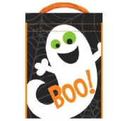 Halloween Candy Bag ~ Boo Ghost Theme 38cm x30cm ~Vinyl Candy Bag with Plastic handle