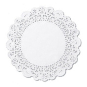 Hoffmaster Brooklace Lace Doilies, Round, 4, White