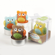 Kate Aspen Set of 4 Assorted Candle, Whooo's the Cutest Baby Owl