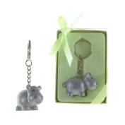 Lunaura Party Keepsake - Set of 12 Baby Hippo Key Chain Favours