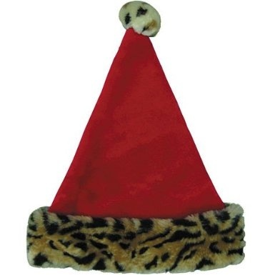 5105b9a158d0a Santa Hat with Animal Print Cuff 16n by Party America - Shop Online ...