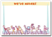 Moving Announcement Card - 12 invites/13 envelopes