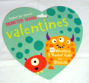 Monster Mania Valentines - Monster Valentine cards with stickers