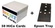 PVC ID Card Starter Kit - 50 HiCo Inkjet PVC Cards & PVC Card Tray for compatible with  compatible with  compatible with  compatible with  compatible with  compatible with  compatible with  compatible with  compatible with  compatible with  compatible wit