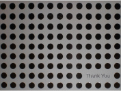 Metallic Silver/White Thank You (Polka Dots) Note Cards w/ Envelopes