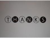 Metallic Silver/White Thanks (Circles) Note Cards w/ Envelopes
