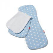 Ideenreich 2023 Burping Cloth Polka Dots Blue Terry Cloth White