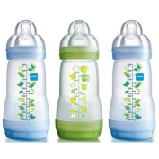 MAM ANTI COLIC BPA FREE bottle SET OF 3 PINK from Birth 0+