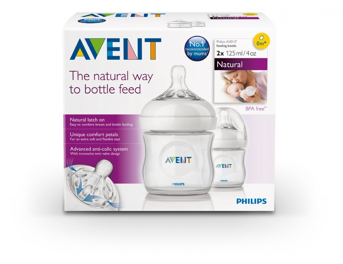 Philips Avent Scf690 27 125 Ml Natural Newborn Feeding Bottle By Gift Set Baby Share This Product