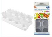 Baby Freezer Cube Trays. 2 x Trays 16 x 70ml Pots BPA Free.