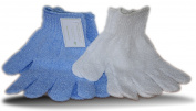 2 x pairs salon/spa body exfoliating gloves