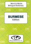 English-Burmese & Burmese-English Word-to-Word Dictionary