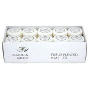 Mason & Miller Tissue Pleated Soap 15g Pack Of 50