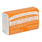 Dr. Bronner's Magic Soaps Pure-Castile Soap , All-One Hemp Tea Tree , 150ml Bars