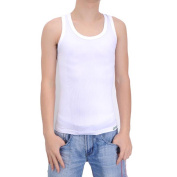 Daditong White Comfortable Tight Men Male Body Shaper Vest Slimming Undershirt Special Weave of 12 Pressure Points