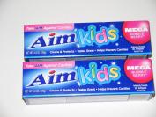 Aim Kids Toothpaste Mega Bubble Berry 2-pack - 140ml Each