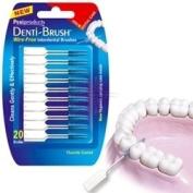THREE PACKS of Denti-Brush Wire Free Interdental Brushes 30 Pack
