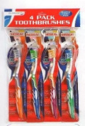 Claradent 4 Pack Toothbrushes - Bumper Family Pack