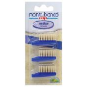 Monte Bianco Brush Heads (3) Bristle, Medium, Blue - PRA2542007