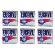 6 x Eucryl Smokers Tooth Powder Original 50g